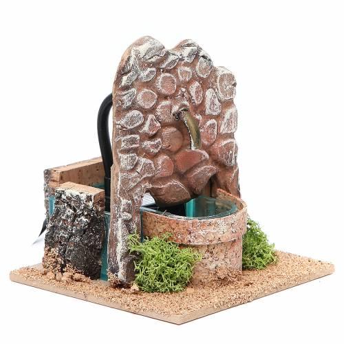 Fontana presepe in terracotta 13x12x12 cm s3