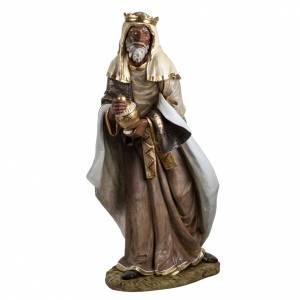Krippenfiguren: Fontanini Mulatte heiliger König 180 cm Harz