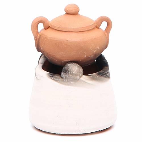 Forno in ceramica con pentola h.6, 5 cm s2