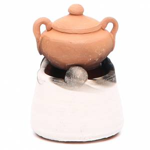 Four en céramique avec casserole h 6,5 cm s2
