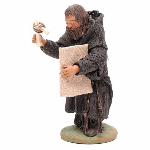 Friar, Neapolitan nativity figurine 10cm s2