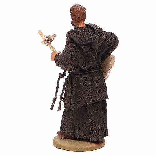 Friar, Neapolitan nativity figurine 12cm s3