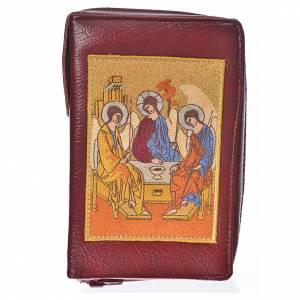 Funda Biblia Jerusalén burdeos simil cuero Santísima Trinidad s1