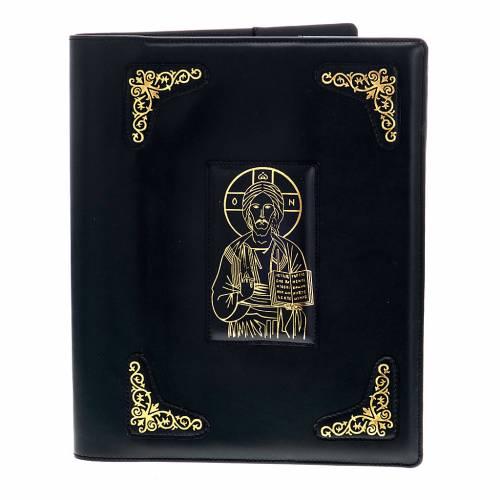 Funda para misal romano negra con impresión oro s1