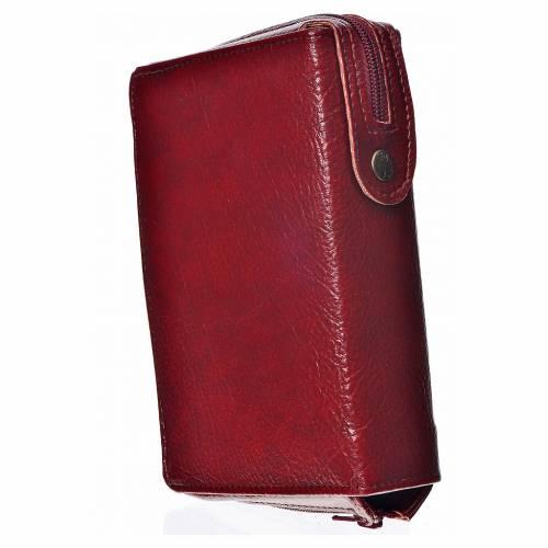 Funda Sagrada Biblia CEE ED. Pop. burdeos simil cuero Divina Mis s2