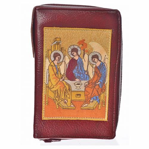 Funda Sagrada Biblia CEE ED. Pop. burdeos simil cuero S. Trinida s1