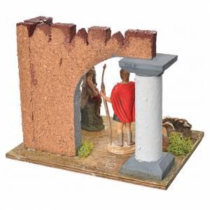 Gardes romaines et colonne décor crèche s4