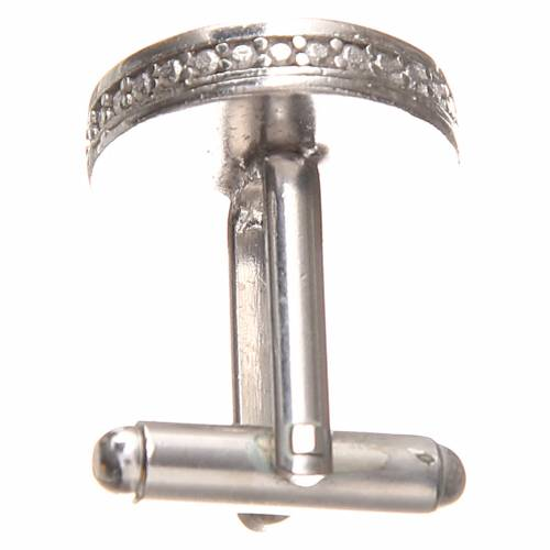 Gemelli da polso argento 800 Papa Francesco 1,7 cm s2
