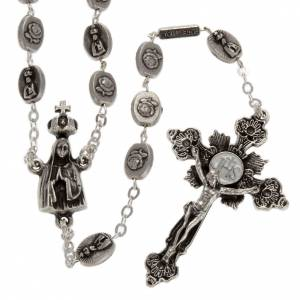Ghirelli brass rosary, Our Lady of Fatima 6x8mm s1