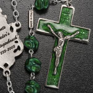 Ghirelli green rosary Our Lady of Loreto 8 mm s5