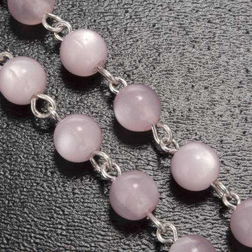 Ghirelli pink rosary Lourdes Grotto, gilded 6mm s5