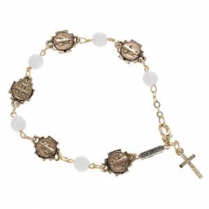 Ghirelli prayer bracelet Saint Benedict, glass s1