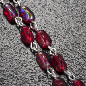 Ghirelli red rosary Lourdes Grotto 7 mm s5