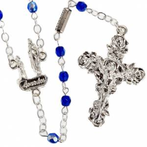 Ghirelli outlet rosary beads: Ghirelli rosary, blue Lourdes 3mm