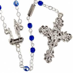 Ghirelli rosary, blue Lourdes 3mm s1