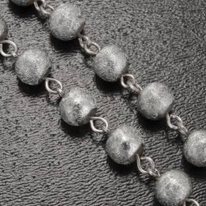 Ghirelli rosary Lourdes Grotto, grey-silver 6mm s5