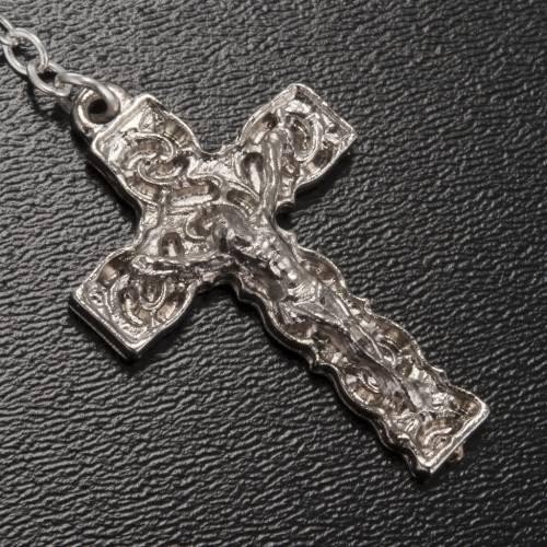 Ghirelli rosary Lourdes Grotto, grey-silver 6mm s4