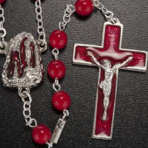 Ghirelli rosary, Lourdes, red 7mm s2
