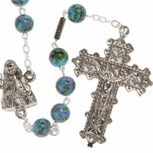 Ghirelli rosary, Our Lady of Lourdes green pattern 6mm s1