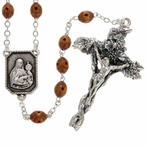 Ghirelli rosary, St. Clare St. Francis 5x7mm s1