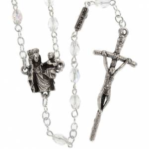 Ghirelli outlet rosary beads: Ghirelli rosary with Our Lady of Paris, 8mm oval beads