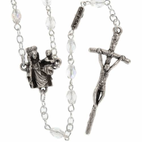 Ghirelli rosary with Our Lady of Paris, 8mm oval beads s1
