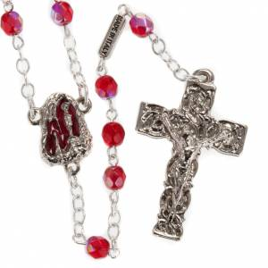 Ghirelli ruby rosary Lourdes Grotto 5mm s1
