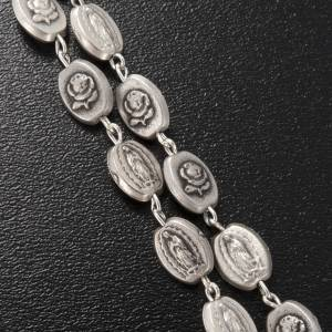 Ghirelli silver rosary, Our Lady of Guadalupe 6x8mm s4