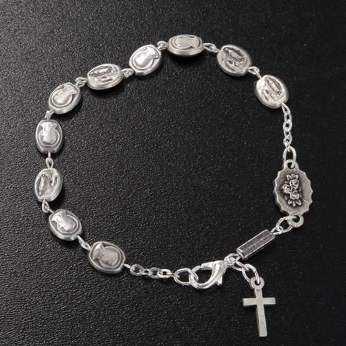 Ghirelli single-decade bracelet, Our Lady of Lourdes 6x8mm s2