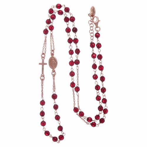 Girocollo rosario agata rubino AMEN argento 925 rosé s3