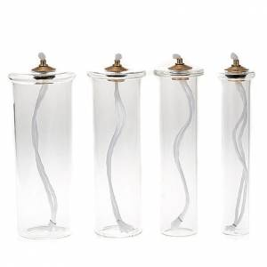 Glass liquid wax filter for fake candles s1