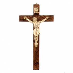 Wooden crucifixes: Golden walnut root-like crucifix, dark