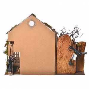 Grange avec lumière et moulin 43x60x34 cm s4