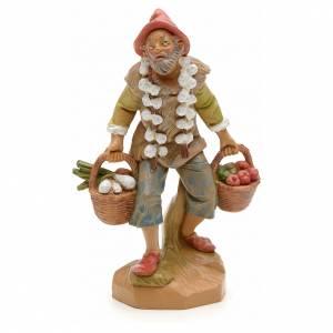 Figuras del Belén: Granjero con verdura 12 cm Fontanini