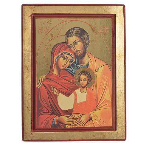 Greek Serigraph Icon, Holy Family s1