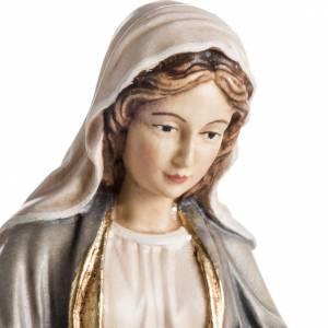 Statuen aus gemalten Holz: Grödnertal Holzschnitzerei Madonna delle Grazie