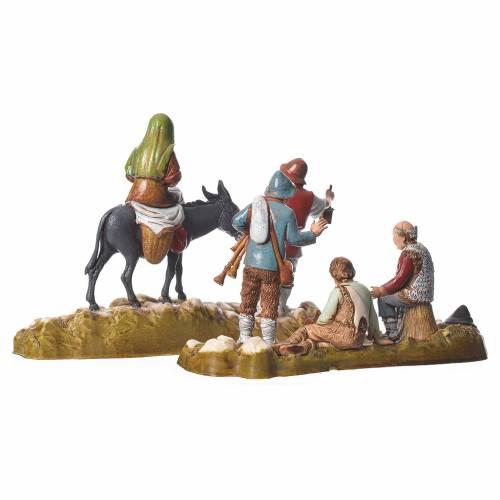 Group of 6 nativity figurines, 10cm Moranduzzo s9