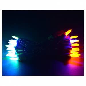 Guirlande lumineuse 35 bougies leds multicolores pour intérieur s2