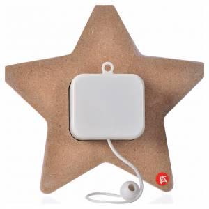 Płaskorzeźby różne: Gwiazda Anioł z mandoliną i pozytywką 16x16 cm