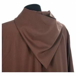Albas litúrgicas: Hábito franciscano marrón poliéster