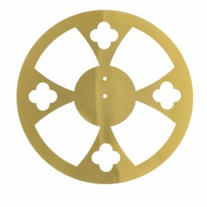 Crowns and halos for religious statues: Halo in golden brass with crosses