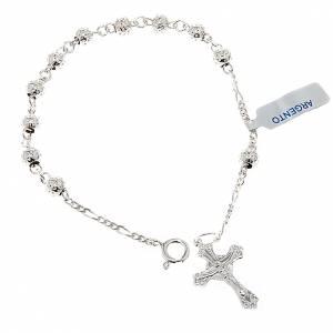 Silver bracelets: Hammered ten-bead bracelet silver 800