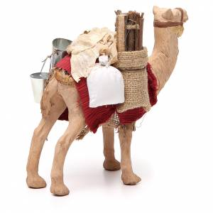 Harnessed standing camel for Neapolitan nativity 14cm s3