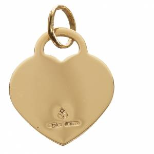 Heart pendant with angel in 750 yellow gold 2.07gr s2