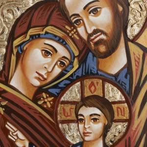 Handgemalte rumänische Ikonen: Heilige Familie Ikone