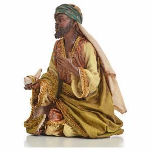 Krippenfiguren von Angela Tripi: Heilige König 18cm Terrakotta, A. Tripi