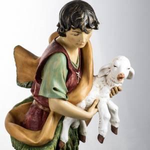 Krippenfiguren: Hirte Fontanini mit Schaf 125 cm