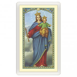 Holy cards: Holy card, Mary Help of Christians, Prayer to Mary Help of Christians ITA, 10x5 cm