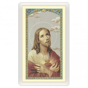 Holy cards: Holy card, Sacred Heart, Abandonment to God ITA, 10x5 cm