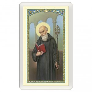 Holy cards: Holy card, Saint Benedict, Prayer to Saint Benedict ITA 10x5 cm